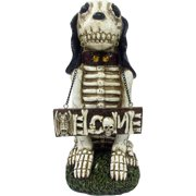 skeleton dog greeter welcome halloween decoration