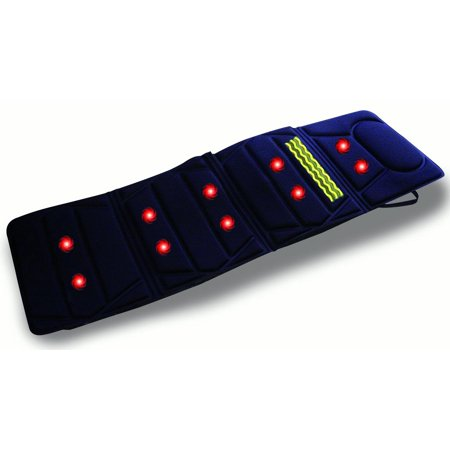 Carepeutic Do-It-All Deluxe Vibration Massage Mat with Soothing Heat Therapy