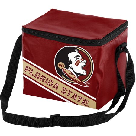 Forever Collectibles Big Logo Stripe 6 Pack Cooler, Florida State Seminoles