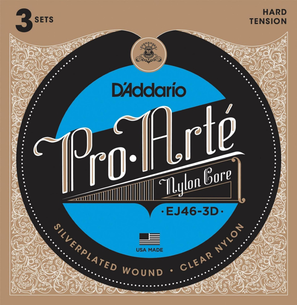 D'Addario EJ46 Pro-Arte Classical Guitar Strings 3-Pack by D'Addario