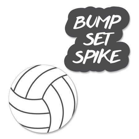 Volleyball Party Supplies (Bump, Set, Spike - Volleyball DIY Shaped Baby Shower or Birthday Party Cut-Outs - 24)