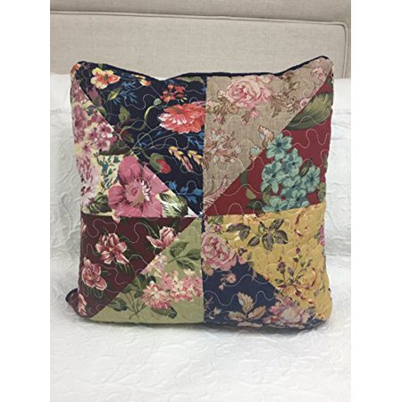 JCPenney 326 Elmsford Reversible Quilted Floral Square Pillow 16