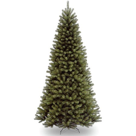 National Tree Unlit 9 North Valley Spruce Hinged Artificial Christmas Tree