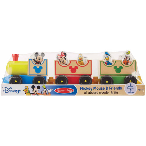 Melissa & Doug Disney Baby Disney Mickey Mouse and Friends All Aboard Wooden Train