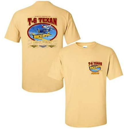 T-6 Texan Yellow Haze Flying Magazine T-Shirt Medium