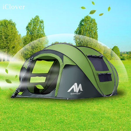 28fda9c13b6 Pop Up Camping Tents 3/4 Person/People Easy Up Instant Setup Ventilated,
