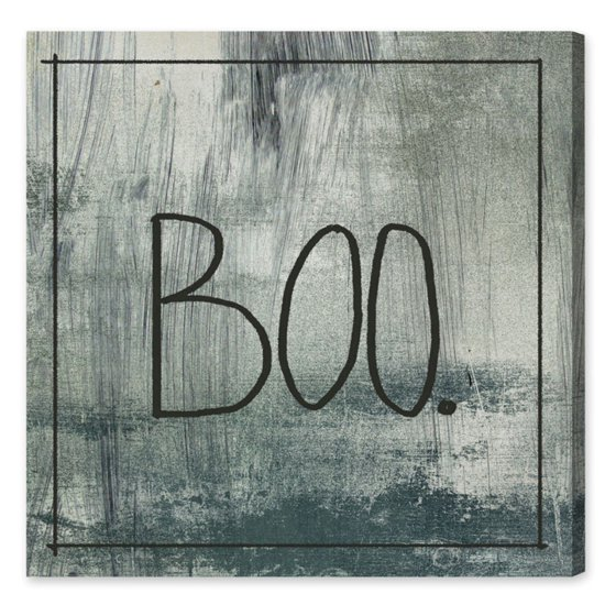 Hatcher & Ethan BOO Canvas Wall Art - Walmart.com