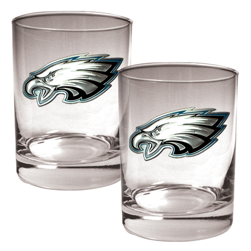 Philadelphia Eagles 14oz. Rocks Glass Set - No Size