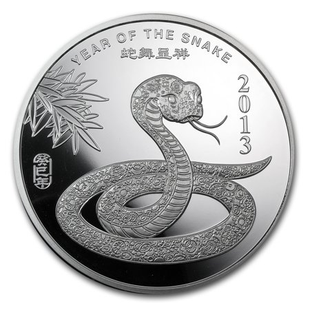 5 oz Silver Round - APMEX (2013 Year of the (2013 Year Of The Snake Silver Proof Coins)