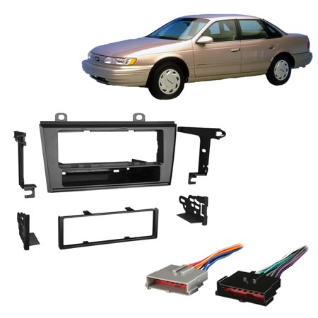 Fits Ford Taurus 1986-1995 Single DIN Stereo Harness Radio Install Dash Kit (Ford Taurus Dash)