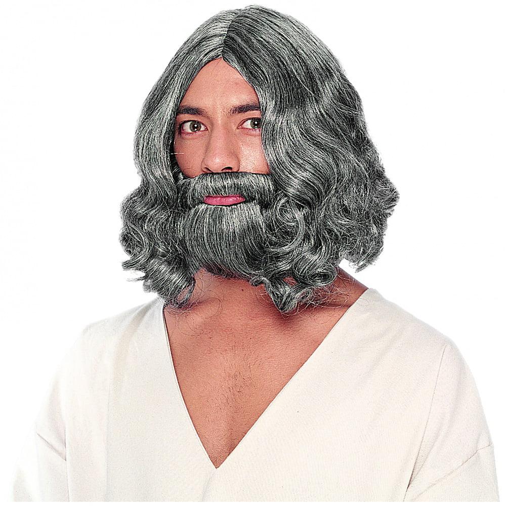 Franco Biblical Grey Wig and Beard Adult Costume Accessory