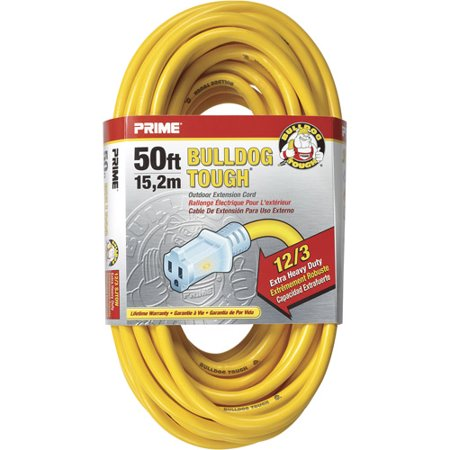 Prime Wire and Cable 50-Foot 12/3 Sjtow Bulldog Lighted Outd