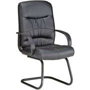 OFM Leatherette Guest Reception Waiting Room Chair, Black