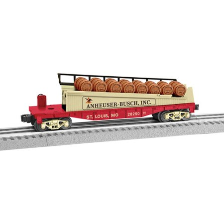 Lionel O Scale Anheuser-Busch Barrel Ramp Car Electric Powered Model Train Rolling Stock