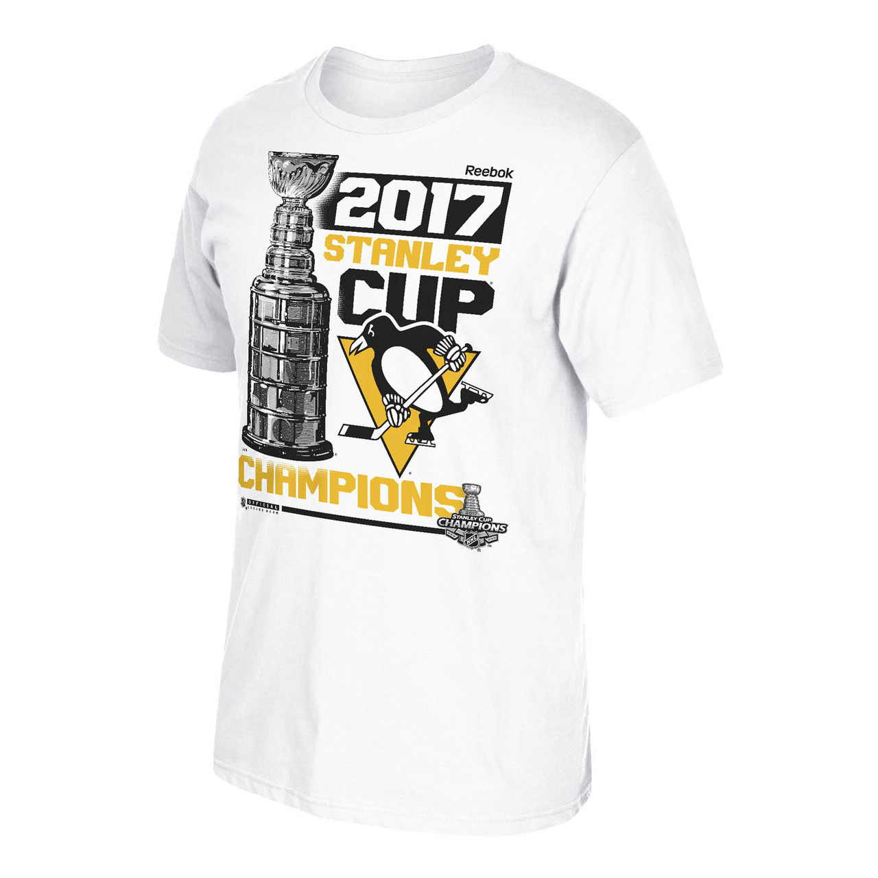 Pittsburgh Penguins Adult 2017 NHL Championship Locker Room T-Shirt  - Team Color
