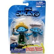 The Smurfs Grab 'Ems Farmer & Baker Mini Figure 2-Pack