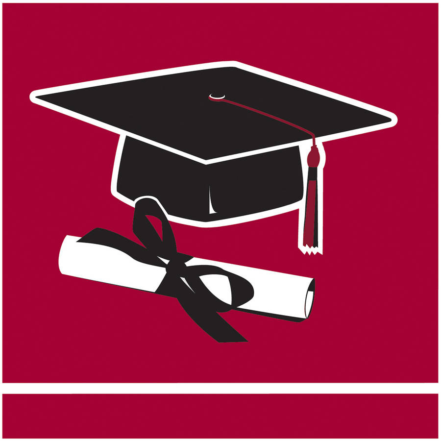 School Colors, Burgundy Beverage Napkins, 36pk