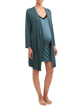 Maternity Nurture by Lamaze 2-Piece Nursing Gown and Robe Set- Available in Plus Sizes