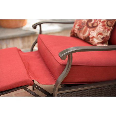 6c881d26a46 Better Homes and Gardens Providence Outdoor Recliner - Red - Walmart.com