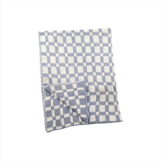 Manual Woodworkers and Weavers AIIPCB Checkered Blue Baby Fleece Blanket Printed Fleece Polyester 30 X 40 inch