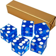 19mm A Grade Serialized Set of Casino Dice-Purple