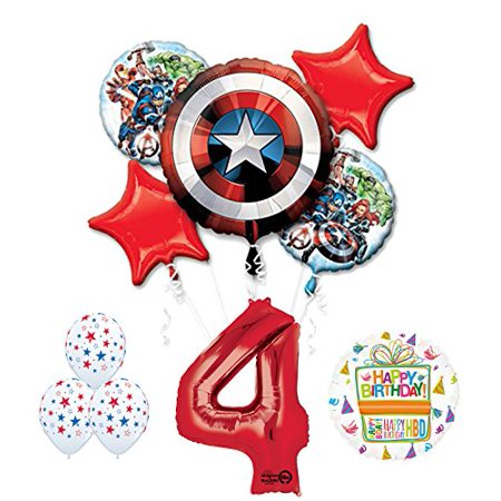 The Ultimate Avengers Super Hero 4th Birthday Party Supplies - Super Hero Supplies