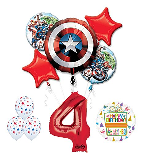 The Ultimate Avengers Super Hero 4th Birthday Party Supplies