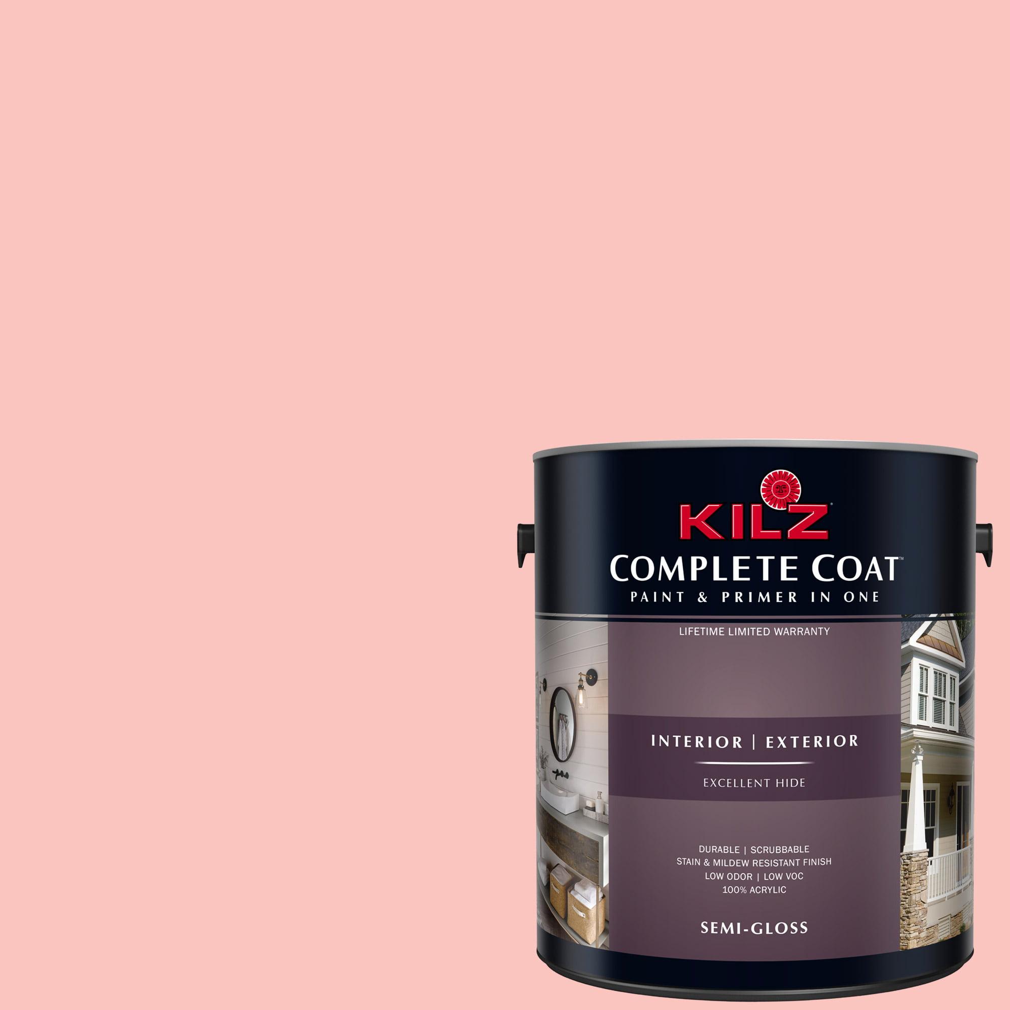 KILZ COMPLETE COAT Interior/Exterior Paint & Primer in One, #LA240-02 Melon Juice