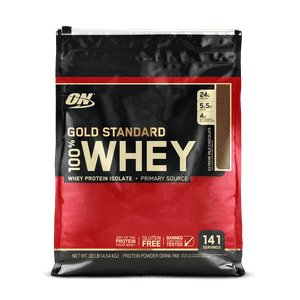 Optimum Nutrition Gold Standard 100% Whey Protein Powder, Extreme Milk Chocolate, 24g Protein, 10 Lb