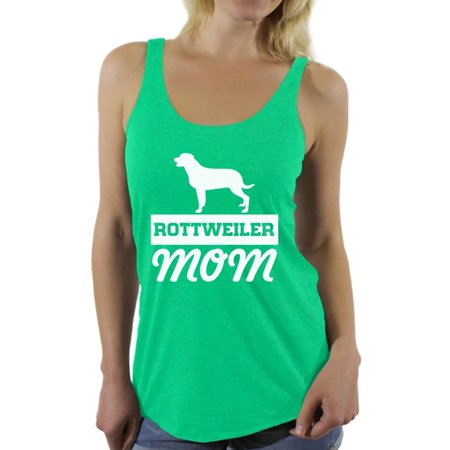 Awkward Styles Women's Rottweiler Mom Graphic Racerback Tank Tops Dog Mom Gift - Dog Tank Top