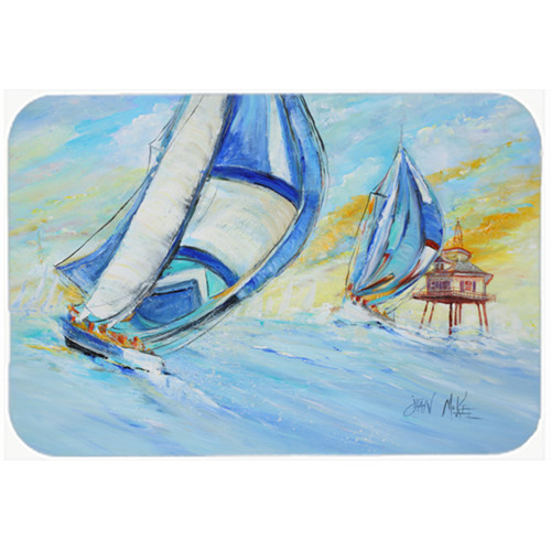 Caroline's Treasures Sailboats and Middle Bay Lighthouse Kitchen/Bath Mat