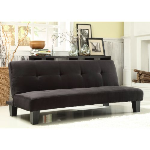 Homelegance Tufted Mini Sofa Bed Lounger - Black