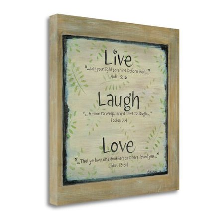 Tangletown Fine Art Live  Laugh  Love   Textual  Art  On  Canvas