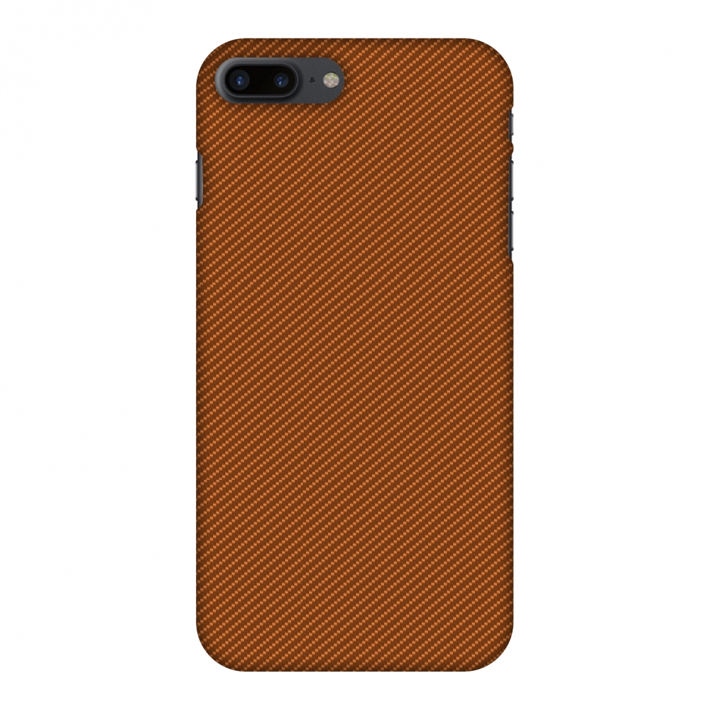 iPhone 8 Plus Case - Autumn Maple Texture, Hard Plastic Back Cover. Slim Profile Cute Printed Designer Snap on Case with Screen Cleaning Kit