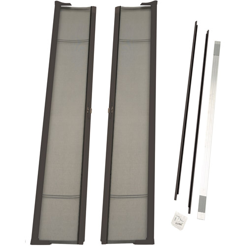 """ODL Brisa Tall Double Door Single Pack Retractable Screen for 96"""" In-Swing or Out-Swing Doors, Bronze"""