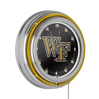 Wake Forest University Chrome Double Rung Neon Clock