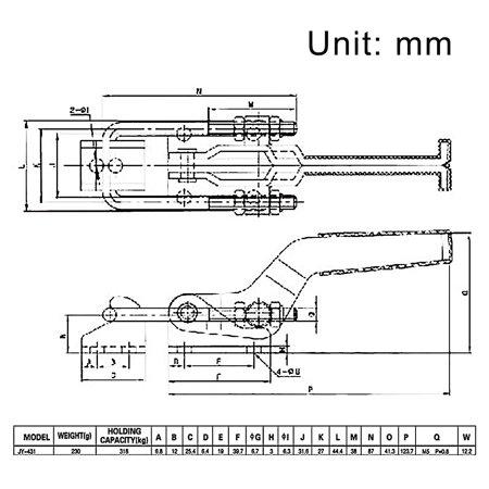 Tirer bouton verrouillage molette dans type chariot 700 lbs 318Kg capacité 431lbs - image 4 de 5