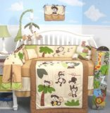 SoHo Curious Monkey Baby Crib Nursery Bedding Set