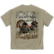 Wicked Hunt Wild Turkey Hunting T-Shirt by , Light Gray