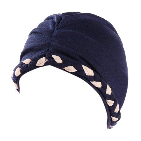 04c46acdc84 Mosunx Women India Hat Muslim Ruffle Cancer Chemo Hat Beanie Scarf Turban  Head Wrap Cap - Walmart.com