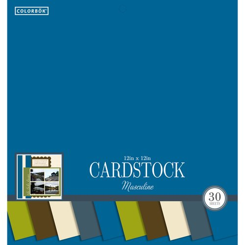 "Colorbok 12"" Smith Cardstock Pad, Masculine"