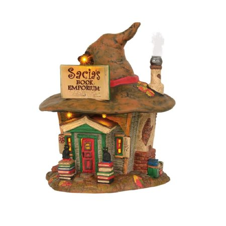 Department 56 Halloween Village Sacia's Book Emporium Building 6003158 New - Halloween Emporium