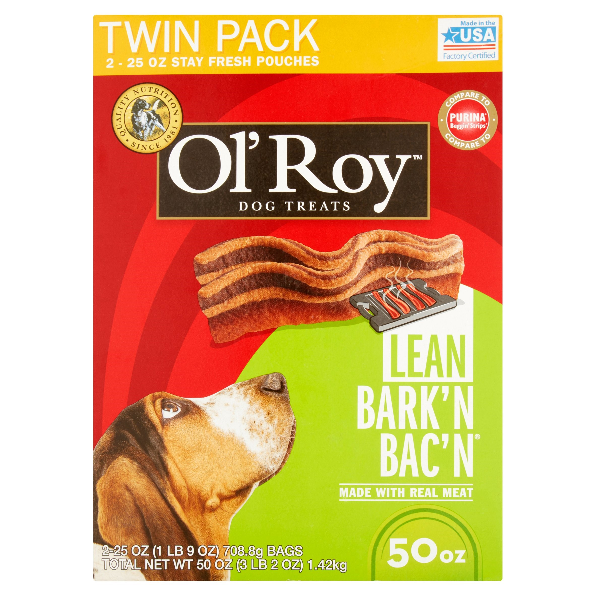 Ol\' Roy Lean Bark\'N Bac\'N Dog Treats, 50 Oz