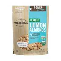 Woodstock 1989771 6 oz Organic Lemon Almonds - Case of 8