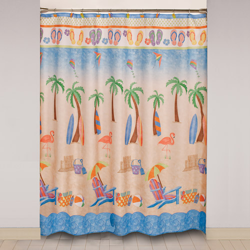 Mainstays Just Beachy Shower Curtain And Hook Set