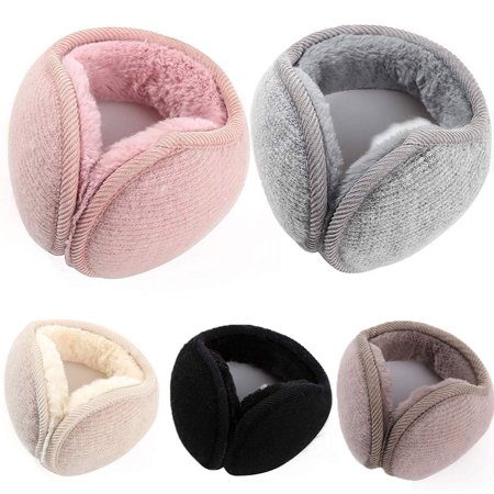 Winter Thick Warm Plush Fluffy Ear Muffs Behind the Head Design Warmer For Women