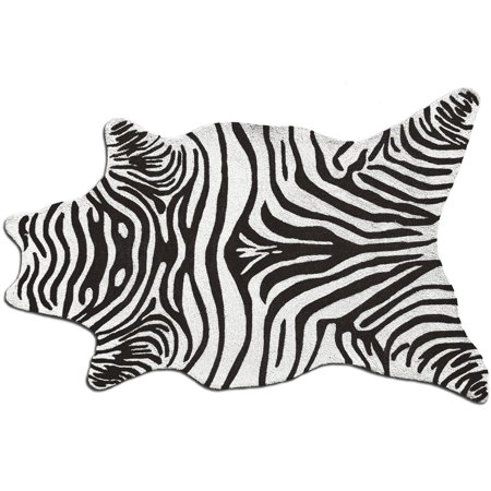 The Rug Market Zebra Black Shaped Rug, 8' x 10'