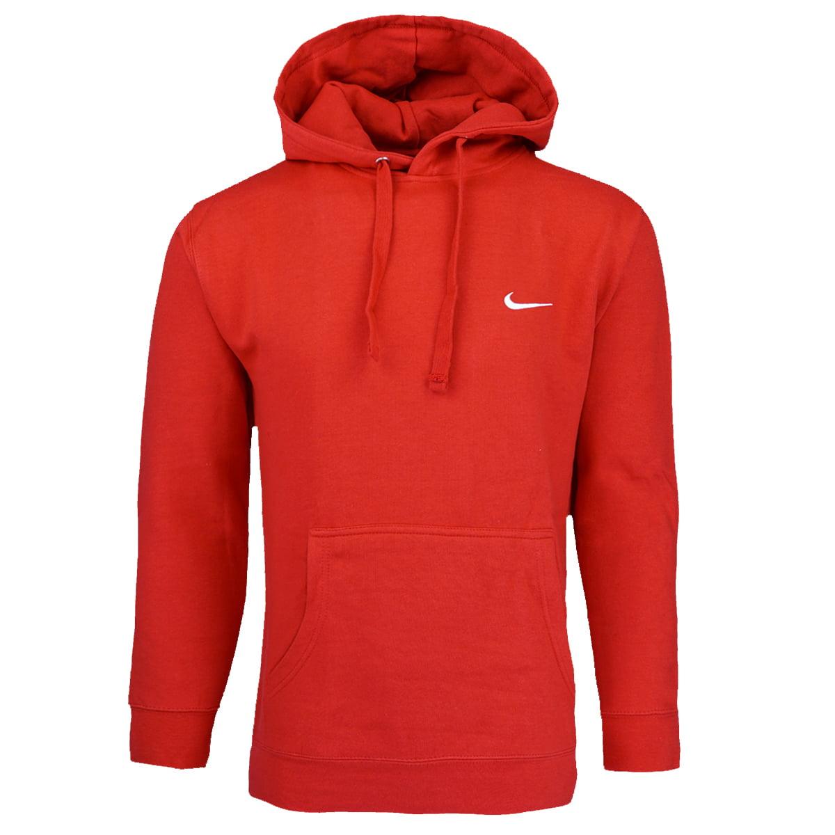 Nike Men's Swoosh Pullover Hoodie Red L