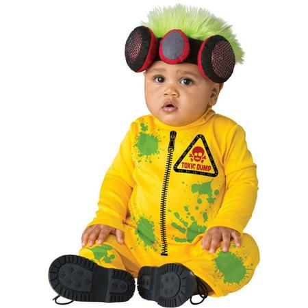 Britney Toxic Halloween Costume (Yellow and Green Toxic Dump Toddler Halloween Costume -)
