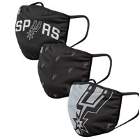 San Antonio Spurs FOCO Face Covering (Size Small) 3-Pack